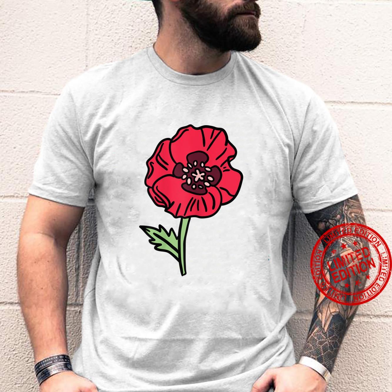 Womens Watercolour Poppy Shirt