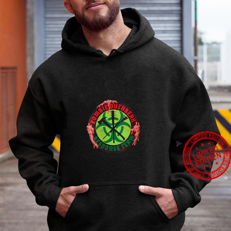 Womens Zombie Outbreak Assault Team Biohazard Apocalypse Shirt hoodie