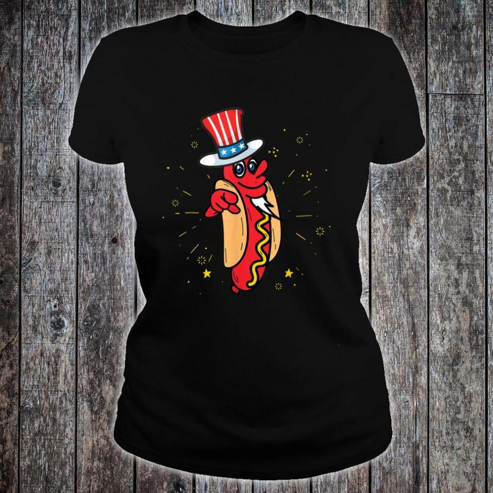 American Hot Dog Hat America USA Wieners Shirt ladies tee