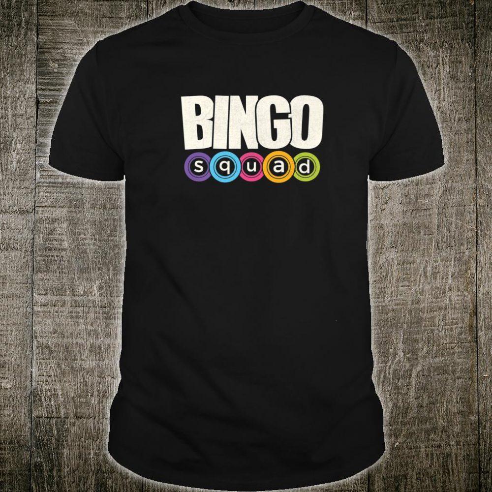 Bingo Player Bingo Squad Casino Lucky Team Player Shirt
