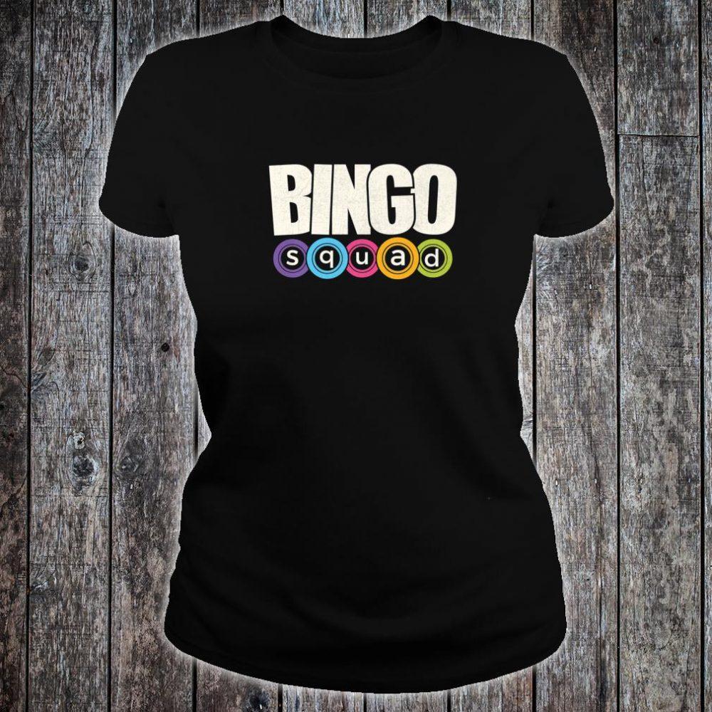 Bingo Player Bingo Squad Casino Lucky Team Player Shirt ladies tee