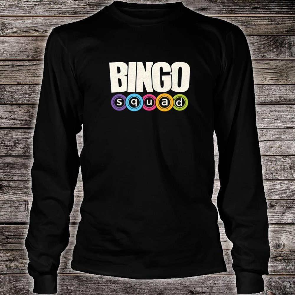 Bingo Player Bingo Squad Casino Lucky Team Player Shirt long sleeved