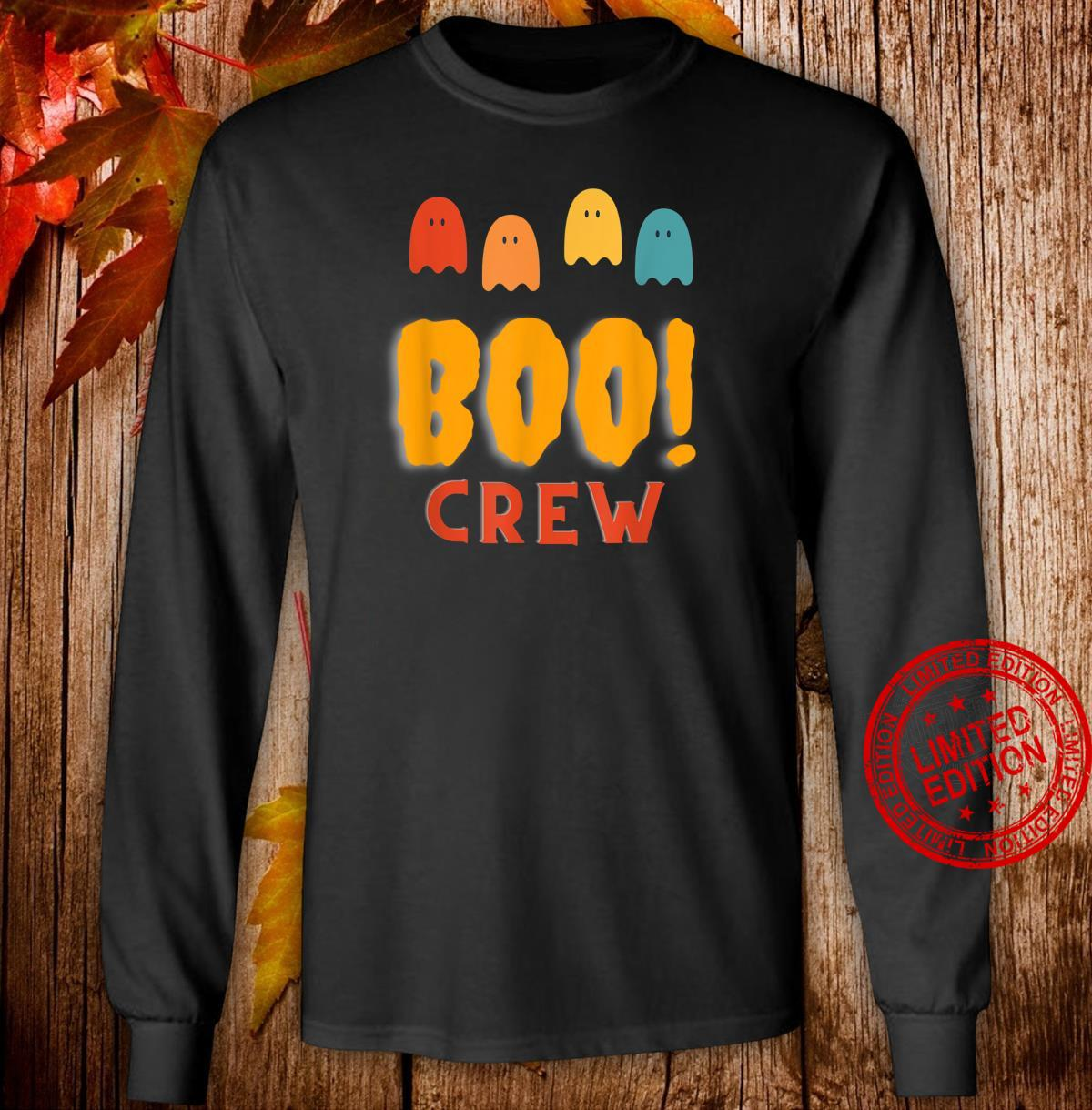 Boo Crew Group Family Halloween Party Shirt long sleeved