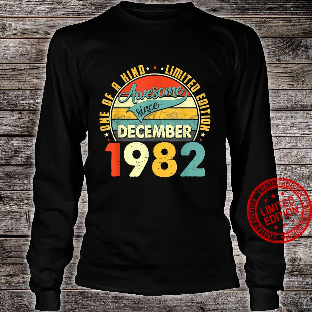 Born In December 1982 38th Birthday Retro 38 Years Old Shirt long sleeved