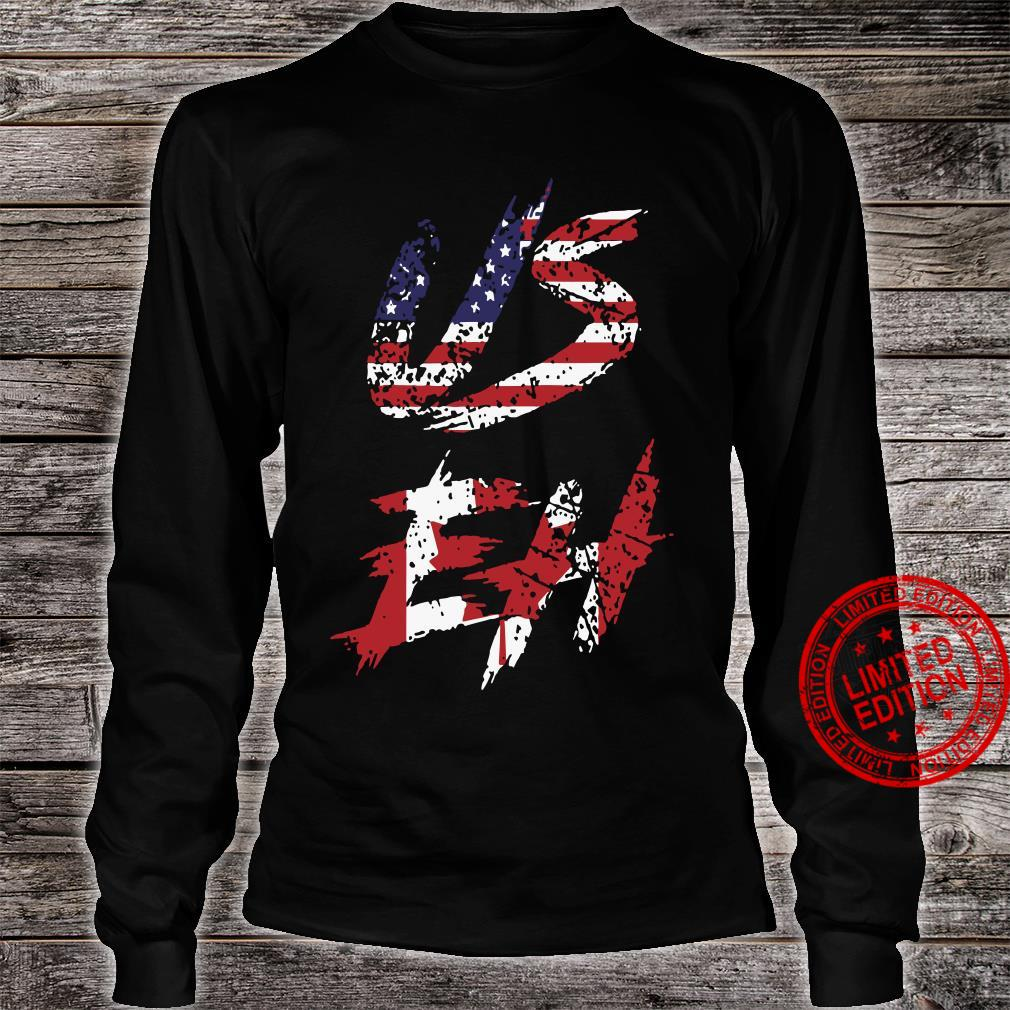 Canadian American US EH Canada Day shirt long sleeved