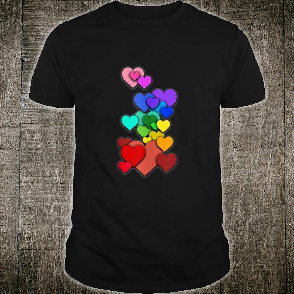 Colorful Heart Love Pride Equal Human Rights Shirt