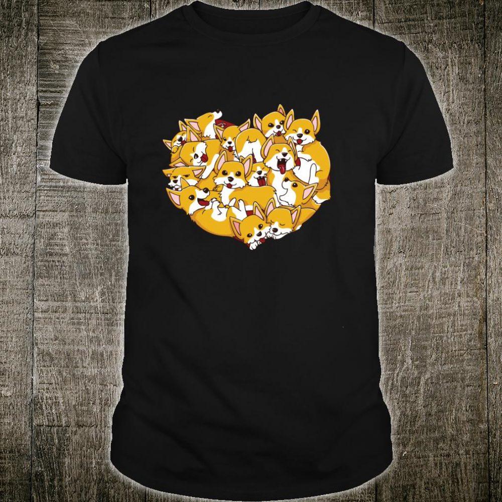 Corgis Heart Shape I Love My Corgi Dog Valentines Day Shirt