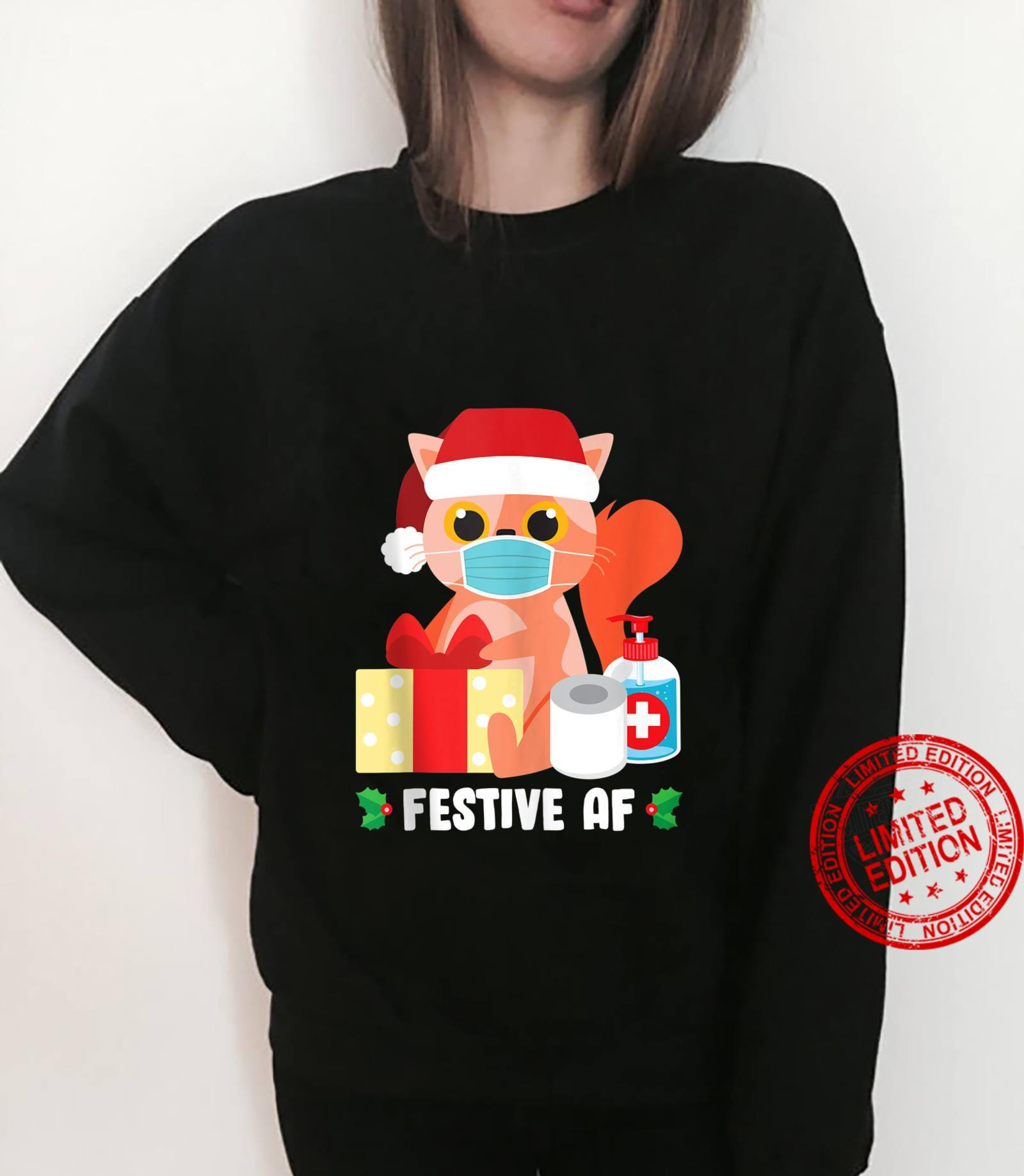 Cute Cat Face Mask Christmas Pajama For Family Shirt sweater