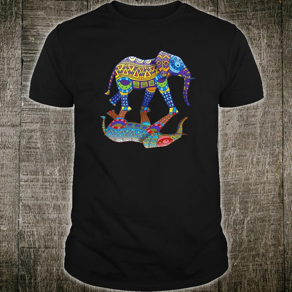 Cute Colorful Indian Elephant Spring Color Festival Shirt