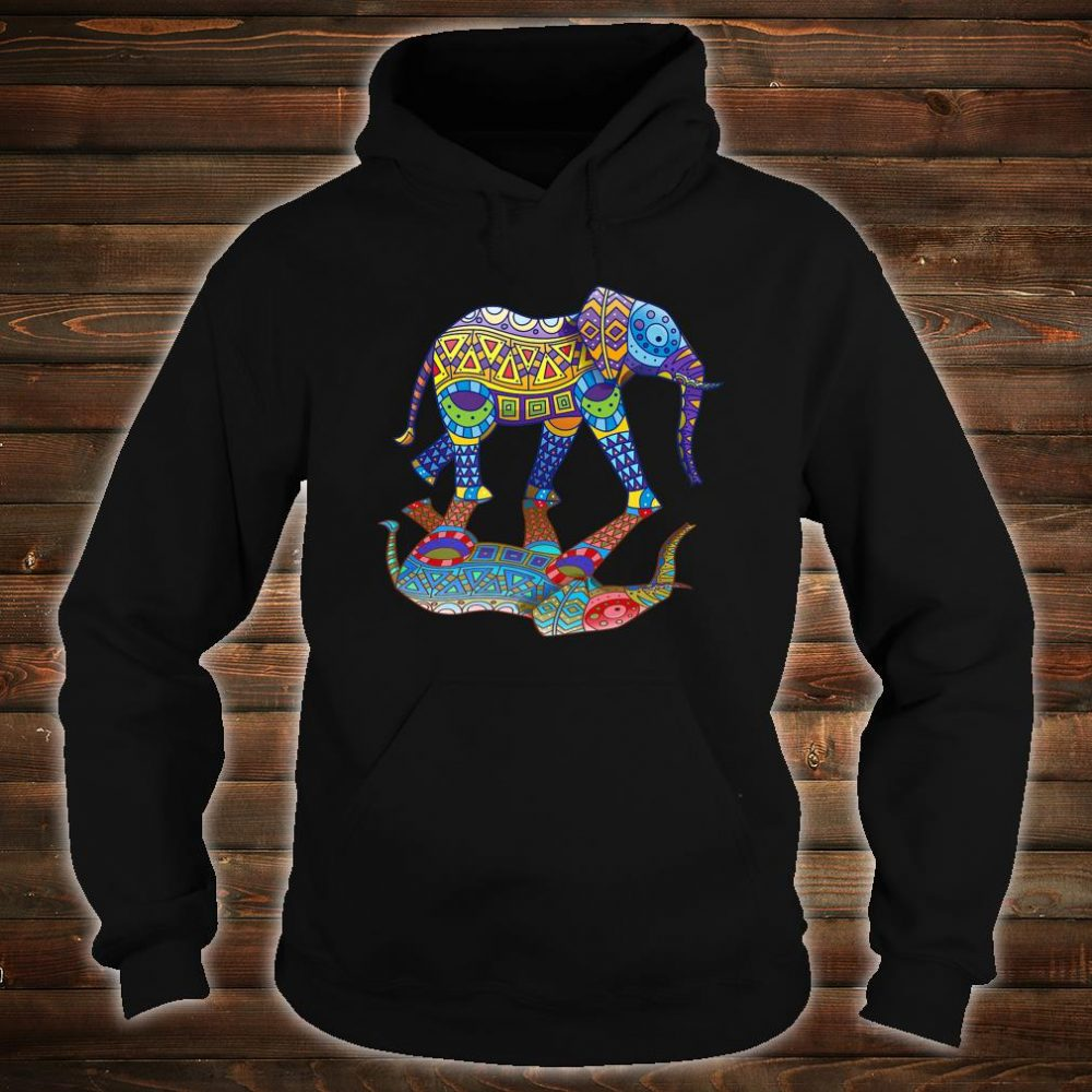 Cute Colorful Indian Elephant Spring Color Festival Shirt hoodie