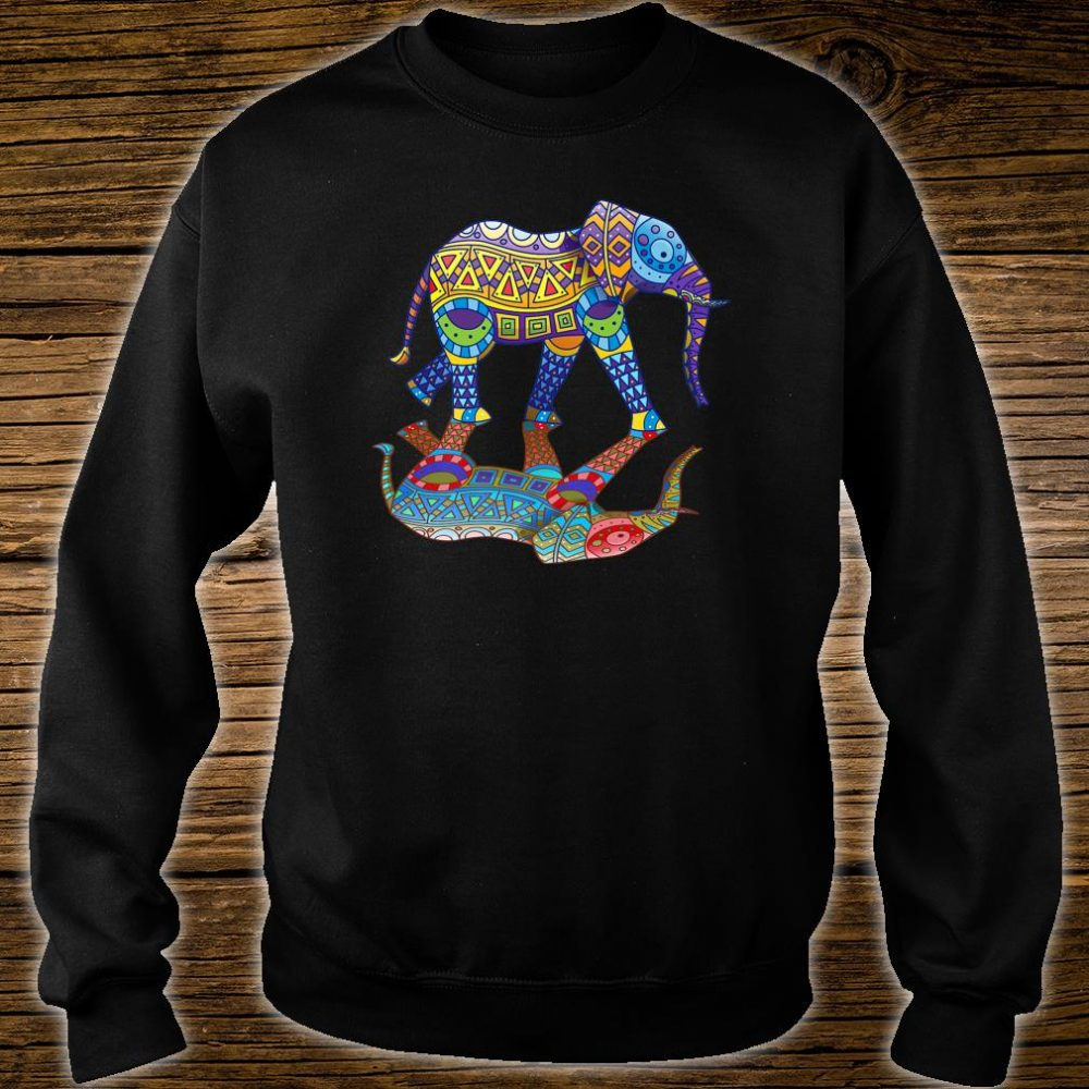 Cute Colorful Indian Elephant Spring Color Festival Shirt sweater