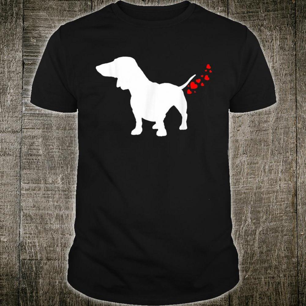 Cute Dachshund Owner Valentines Day Heart Dog Farts Shirt