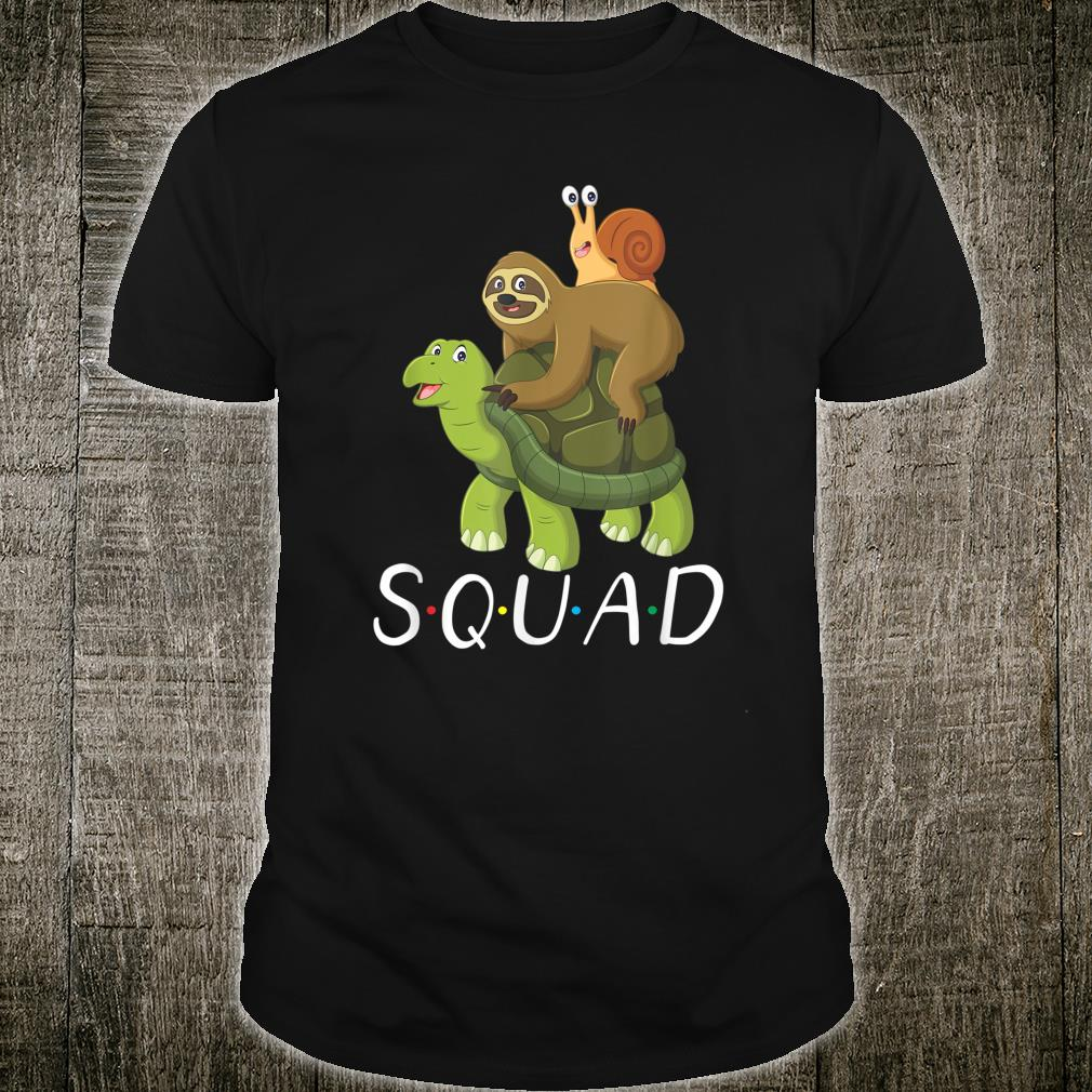 Cute Sloth Turtle Snail Squad Slow Gift Halloween Shirt