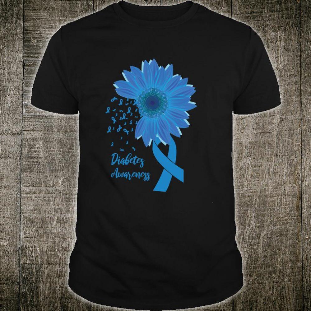 Diabetes Awareness Sunflower Ribbon Shirt