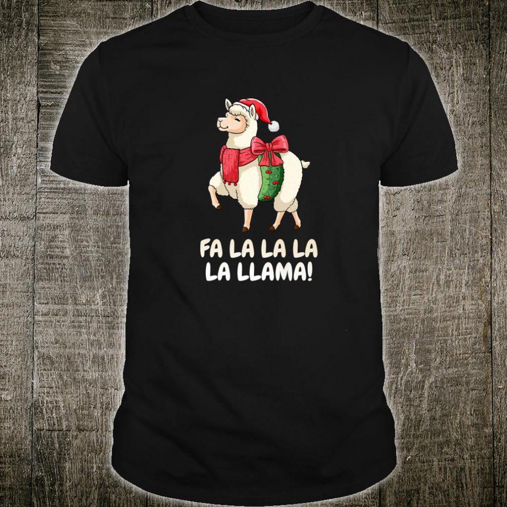 Fa la la la la Llama SHIRT Christmas Nikolaus Alpaka Shirt
