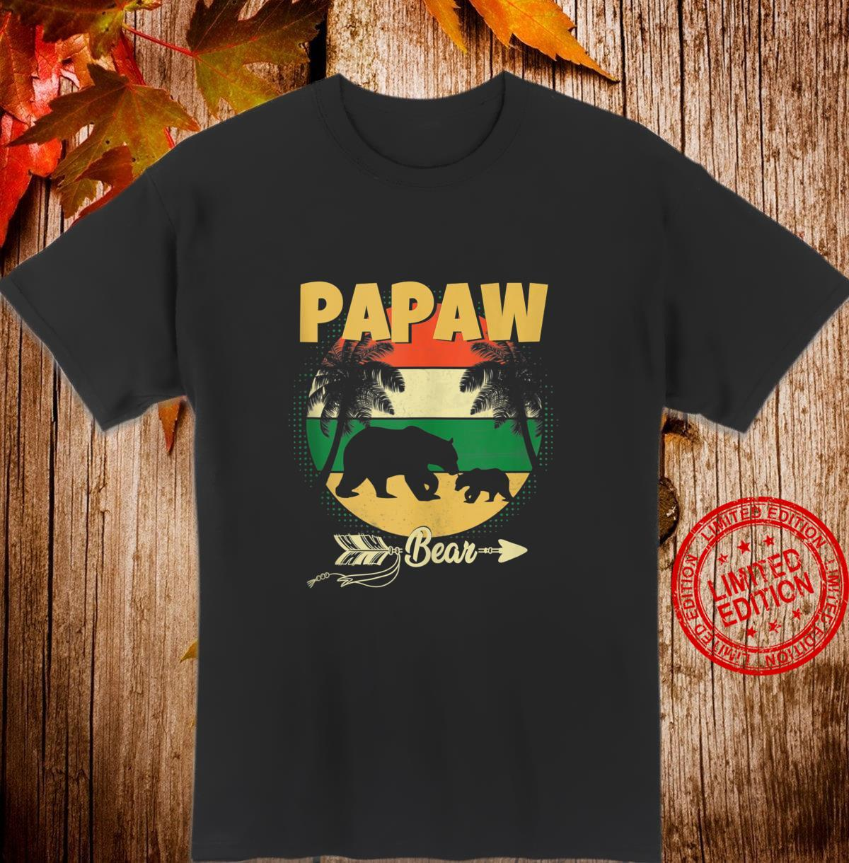 Fathers Day Papaw Bear Perfect For Dad Father Grandpa Shirt