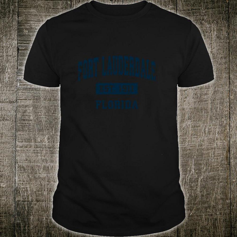 Fort Lauderdale Florida FL Vintage Sports Design Navy Print Shirt
