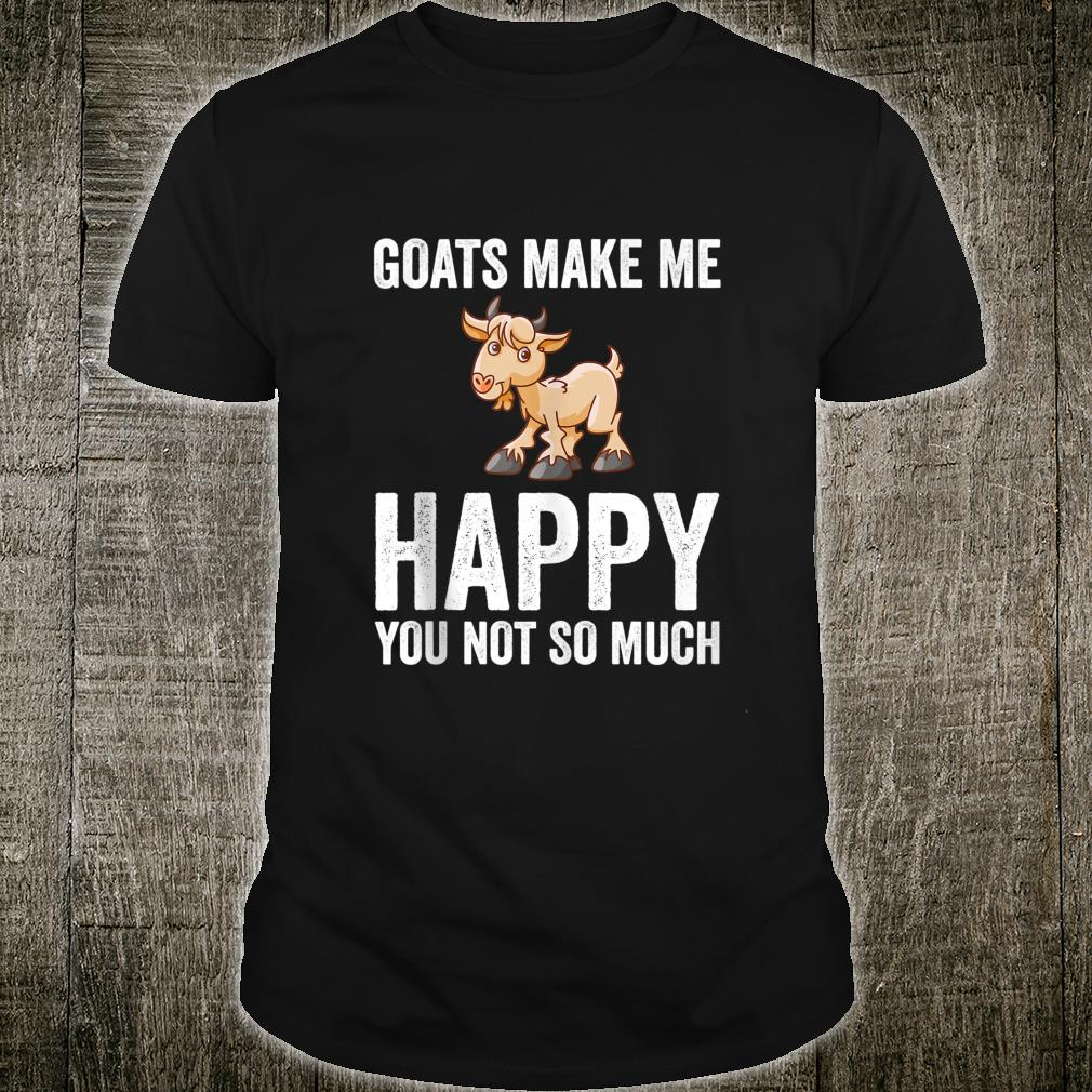 Goats Makes Me Happy Goat Shirt