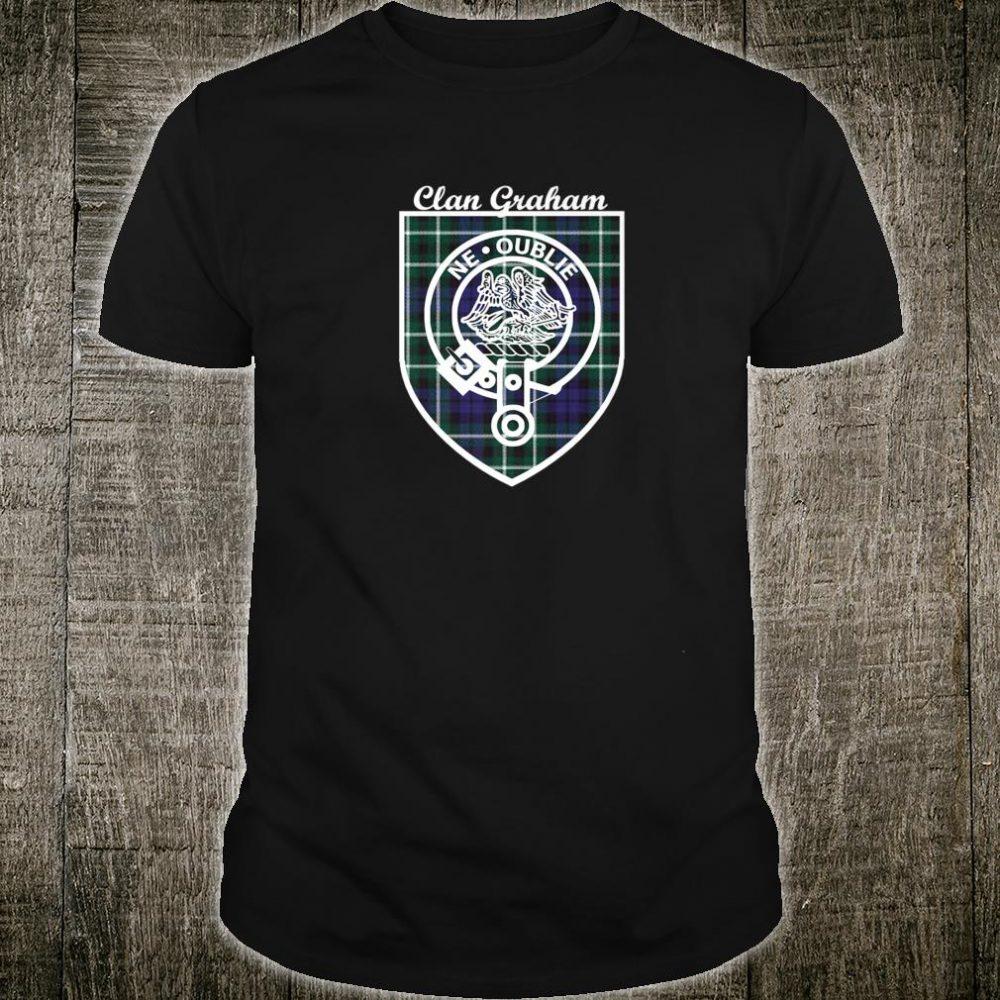 Graham surname last name Scottish Clan tartan badge crest Shirt