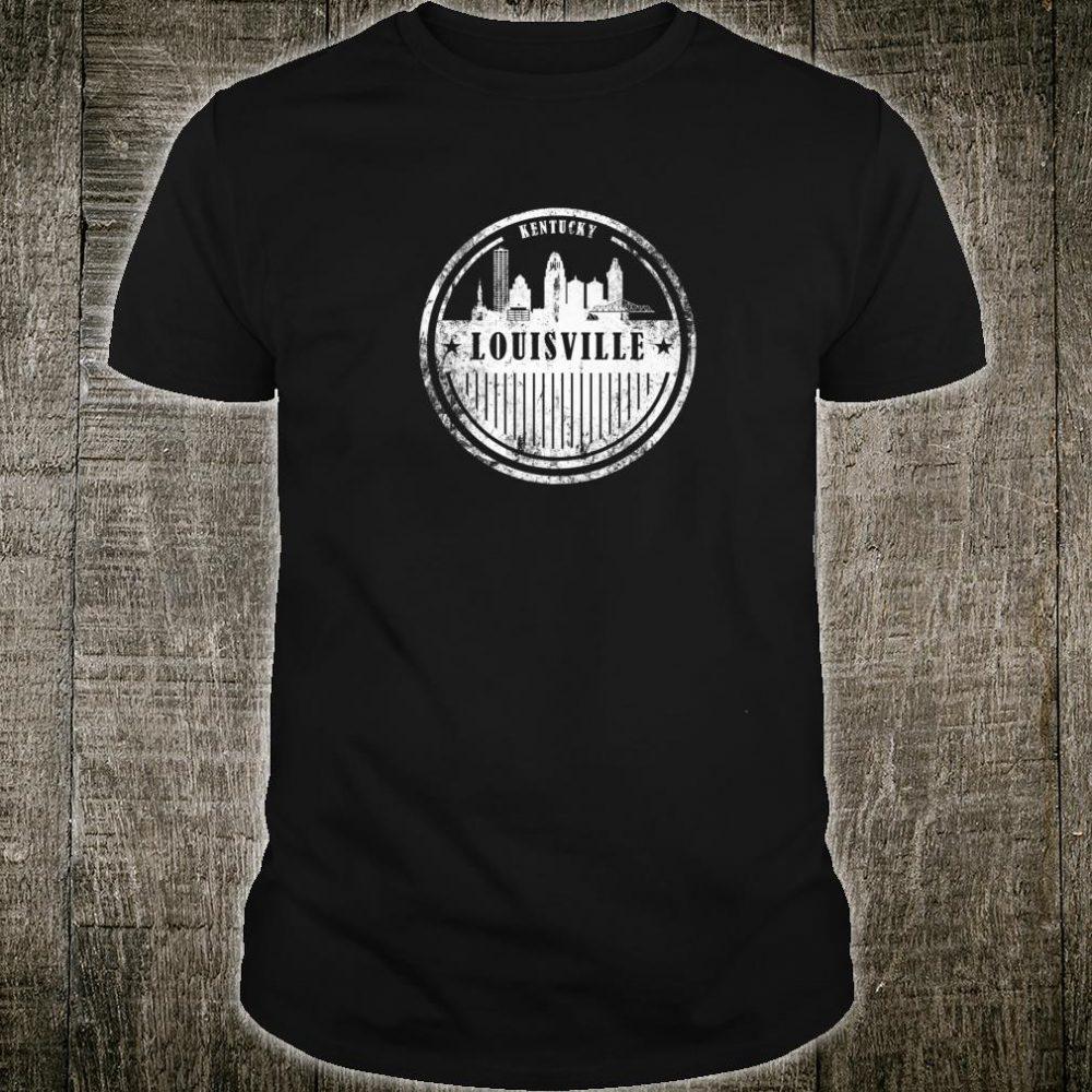 Grunge Louisville Kentucky Retro Skyline City Shirt