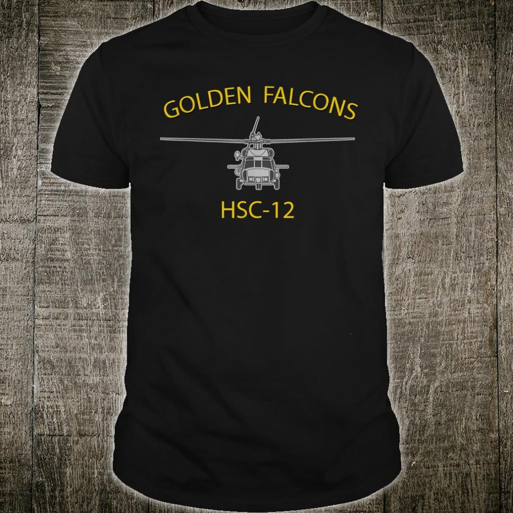 HSC12 Golden Falcons Helicopter Squadron MH60 Sea Hawk Shirt