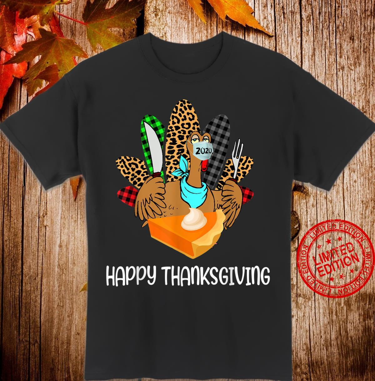 Happy Thanksgiving Leopard Plaid Turkey Shirt