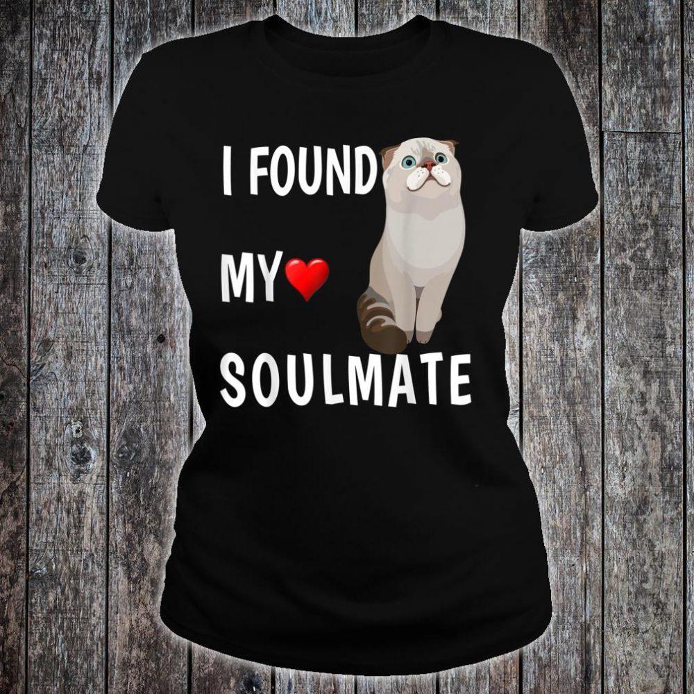 I Found My Soulmate Scottish Fold Cat Best Friend Shirt ladies tee