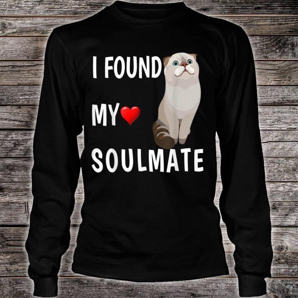 I Found My Soulmate Scottish Fold Cat Best Friend Shirt long sleeved