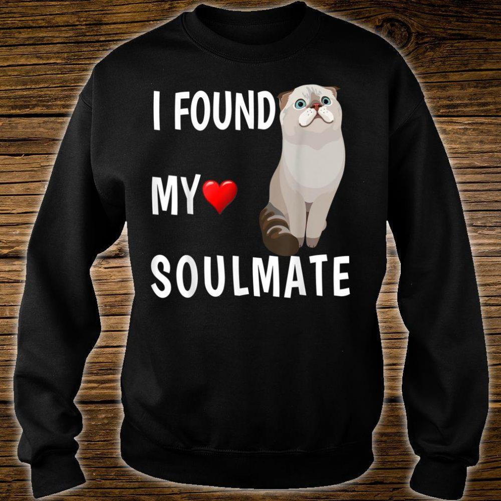 I Found My Soulmate Scottish Fold Cat Best Friend Shirt sweater