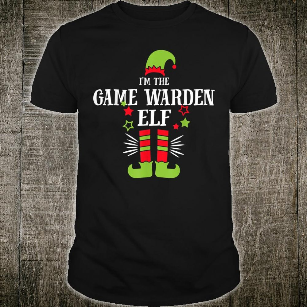 I'm The Game Warden Elf Matching Family Christmas Pajama Shirt