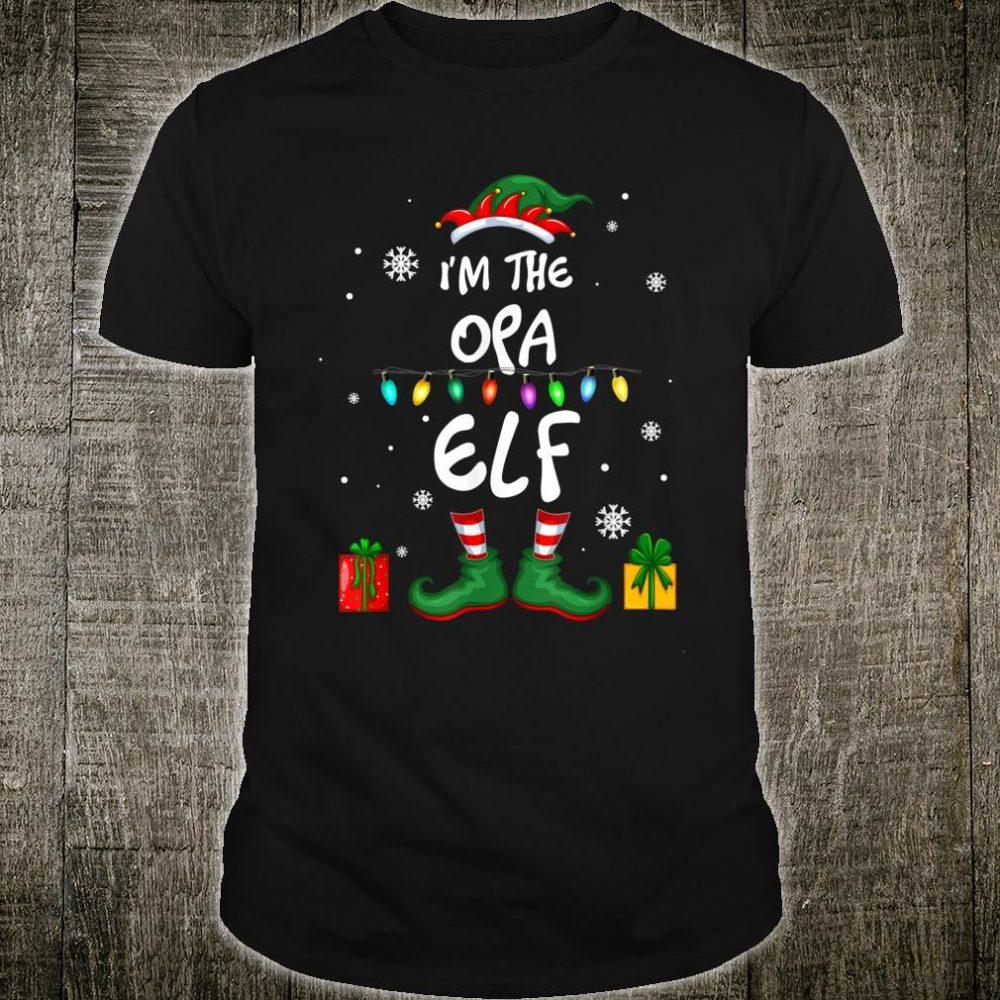 I'm The Opa Elf Family Matching Christmas Shirt