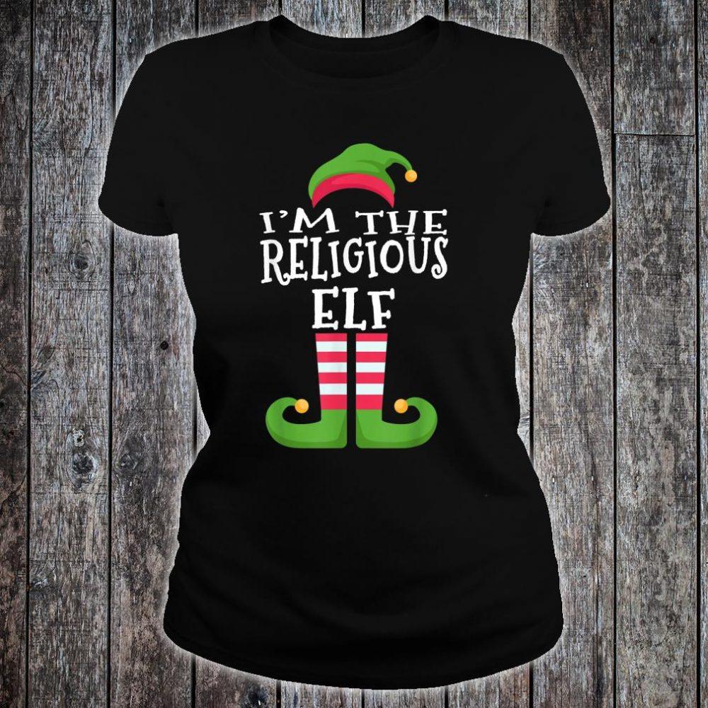 I'm The Religious Elf Group Matching Christmas Shirt ladies tee