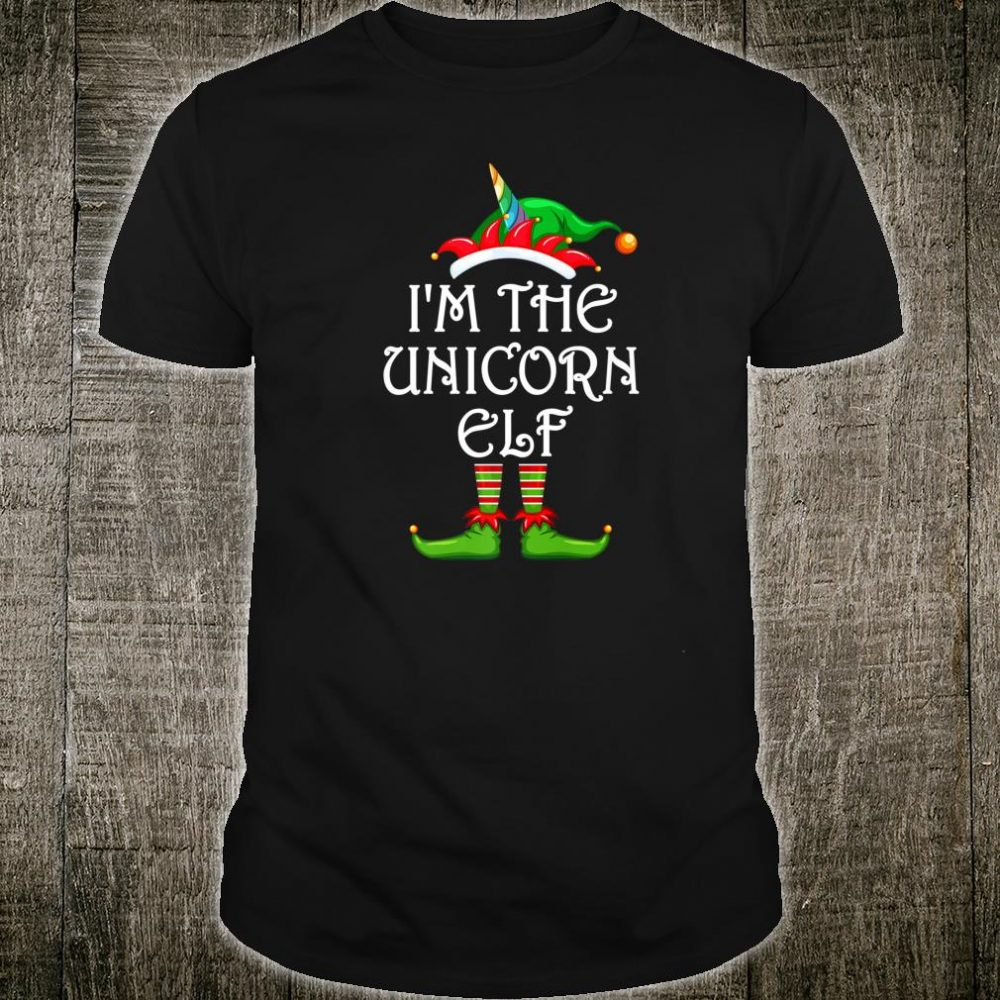 I'm The Unicorn Elf Shirt Matching Family Group Christmas Shirt