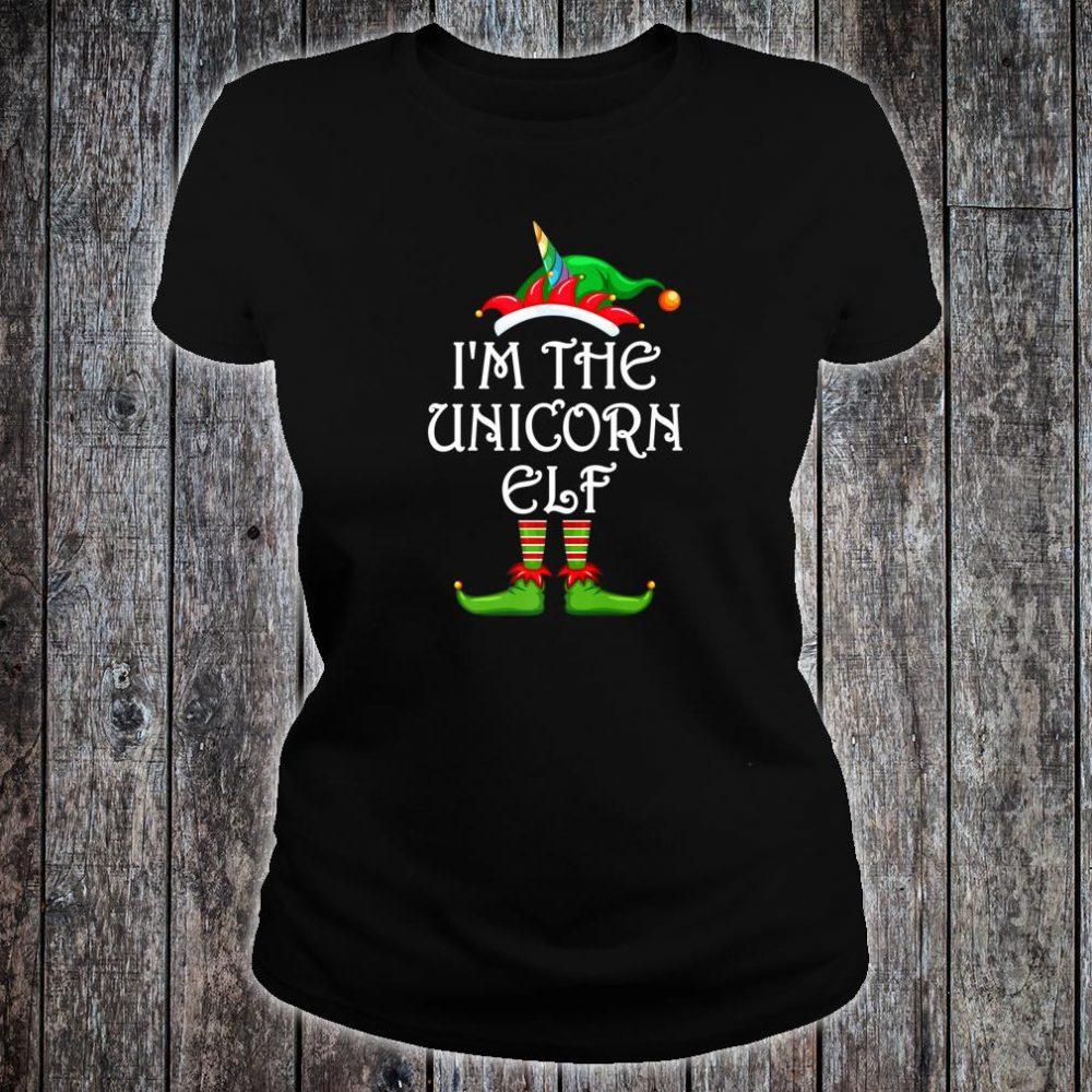 I'm The Unicorn Elf Shirt Matching Family Group Christmas Shirt ladies tee