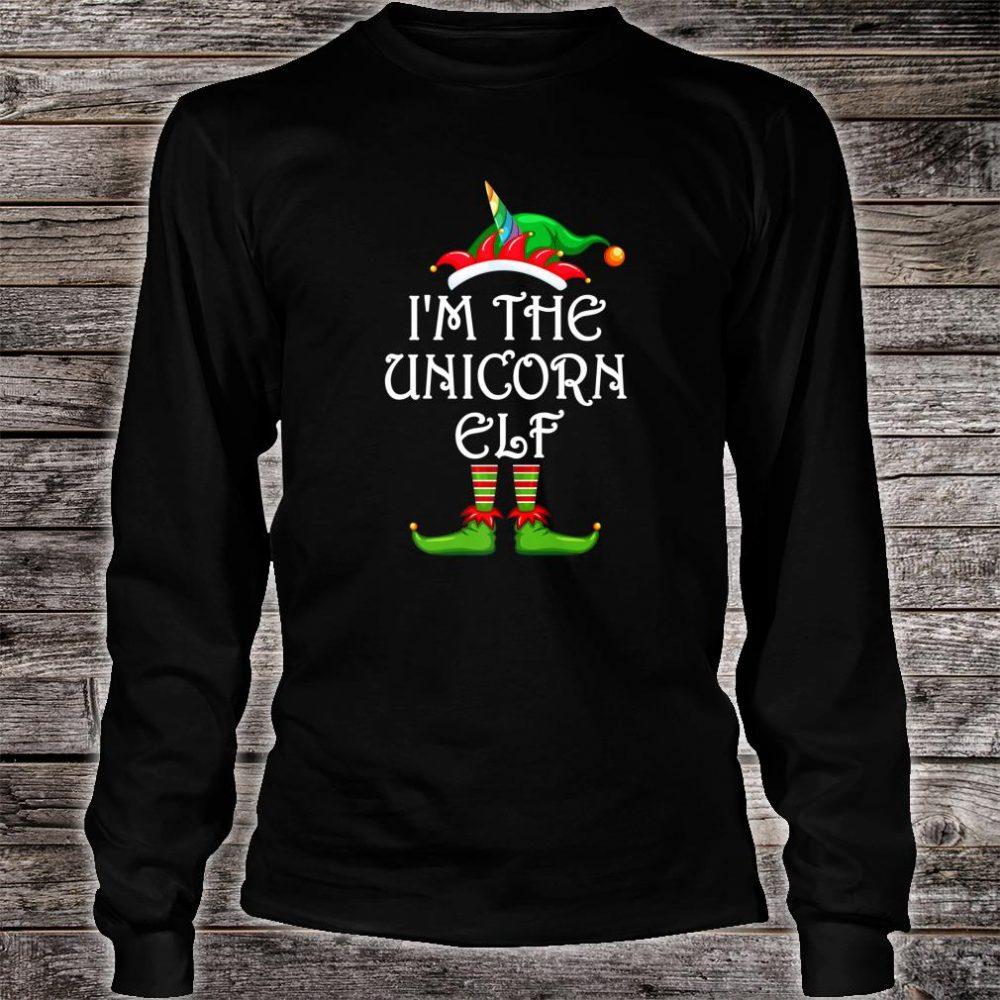 I'm The Unicorn Elf Shirt Matching Family Group Christmas Shirt long sleeved