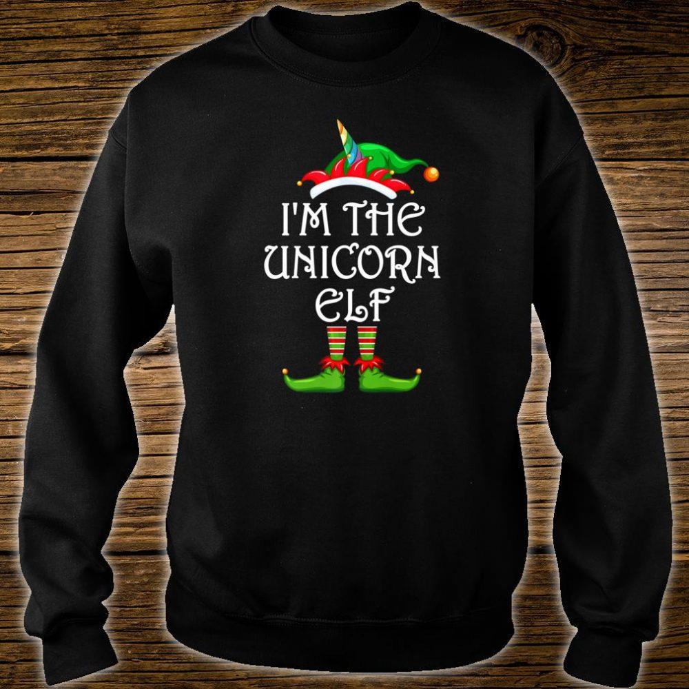 I'm The Unicorn Elf Shirt Matching Family Group Christmas Shirt sweater