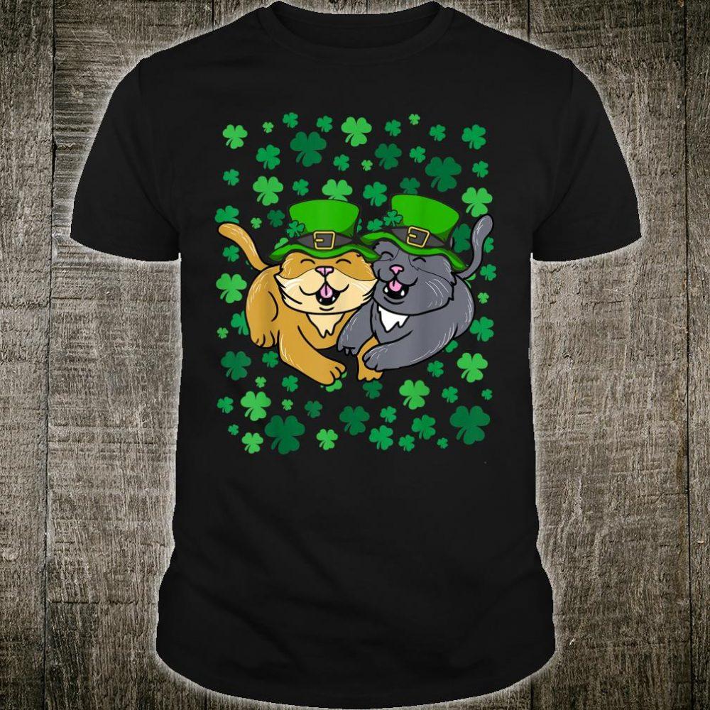 Irish Cat Leprechaun St. Patrick's Day Shamrock Shirt