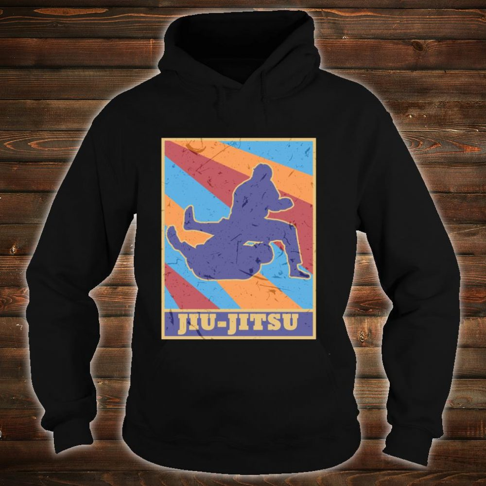 Jiu Jitsu Gi Vintage Retro Colors BJJ MMA Fighter Grappler Shirt hoodie