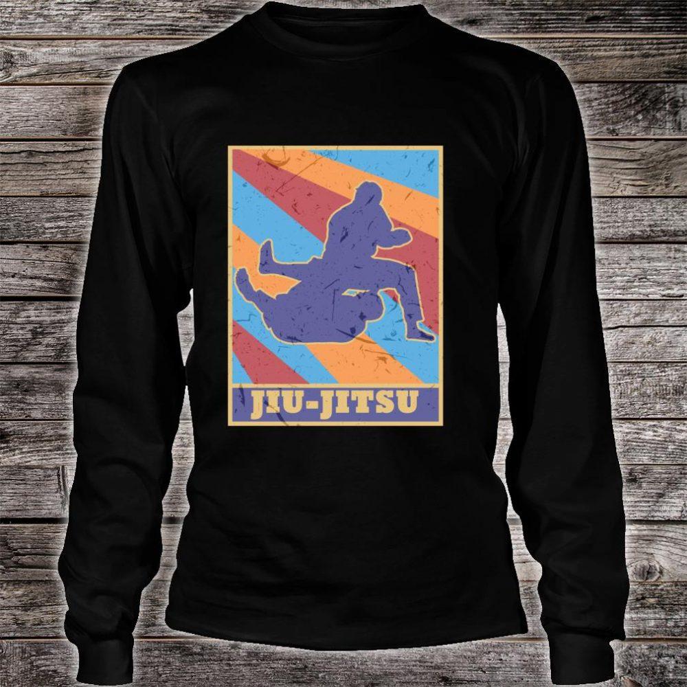 Jiu Jitsu Gi Vintage Retro Colors BJJ MMA Fighter Grappler Shirt long sleeved