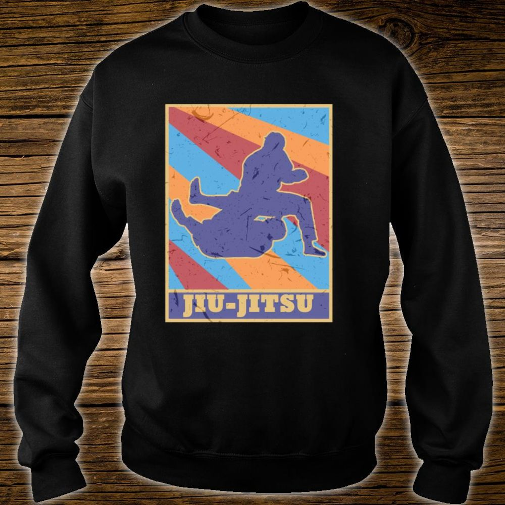 Jiu Jitsu Gi Vintage Retro Colors BJJ MMA Fighter Grappler Shirt sweater