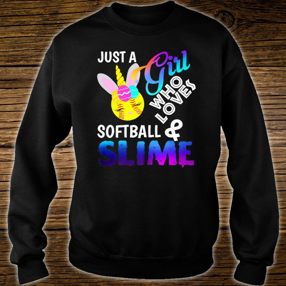 Just A Girl Who Loves Softball and Slime Shirt sweater