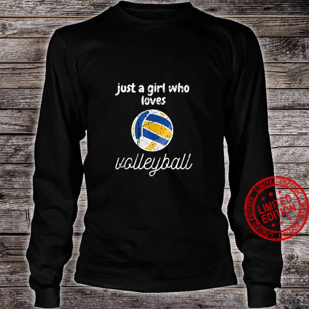 Just A Girl Who Loves Volleyball Sports Gameday Shirt long sleeved