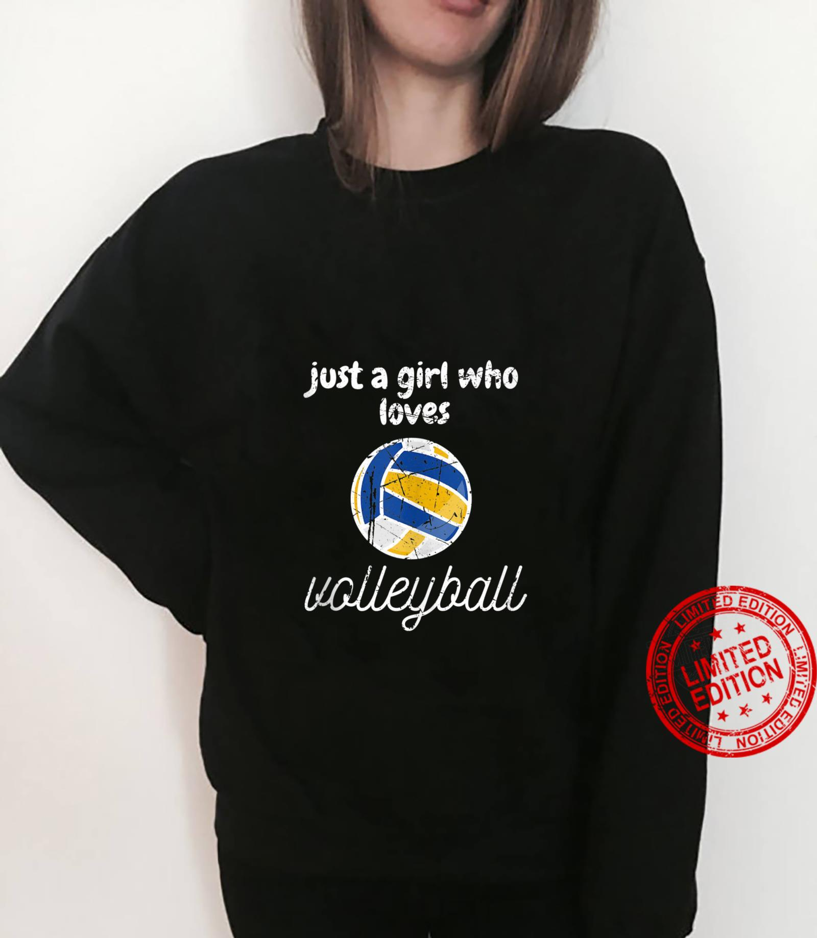 Just A Girl Who Loves Volleyball Sports Gameday Shirt sweater
