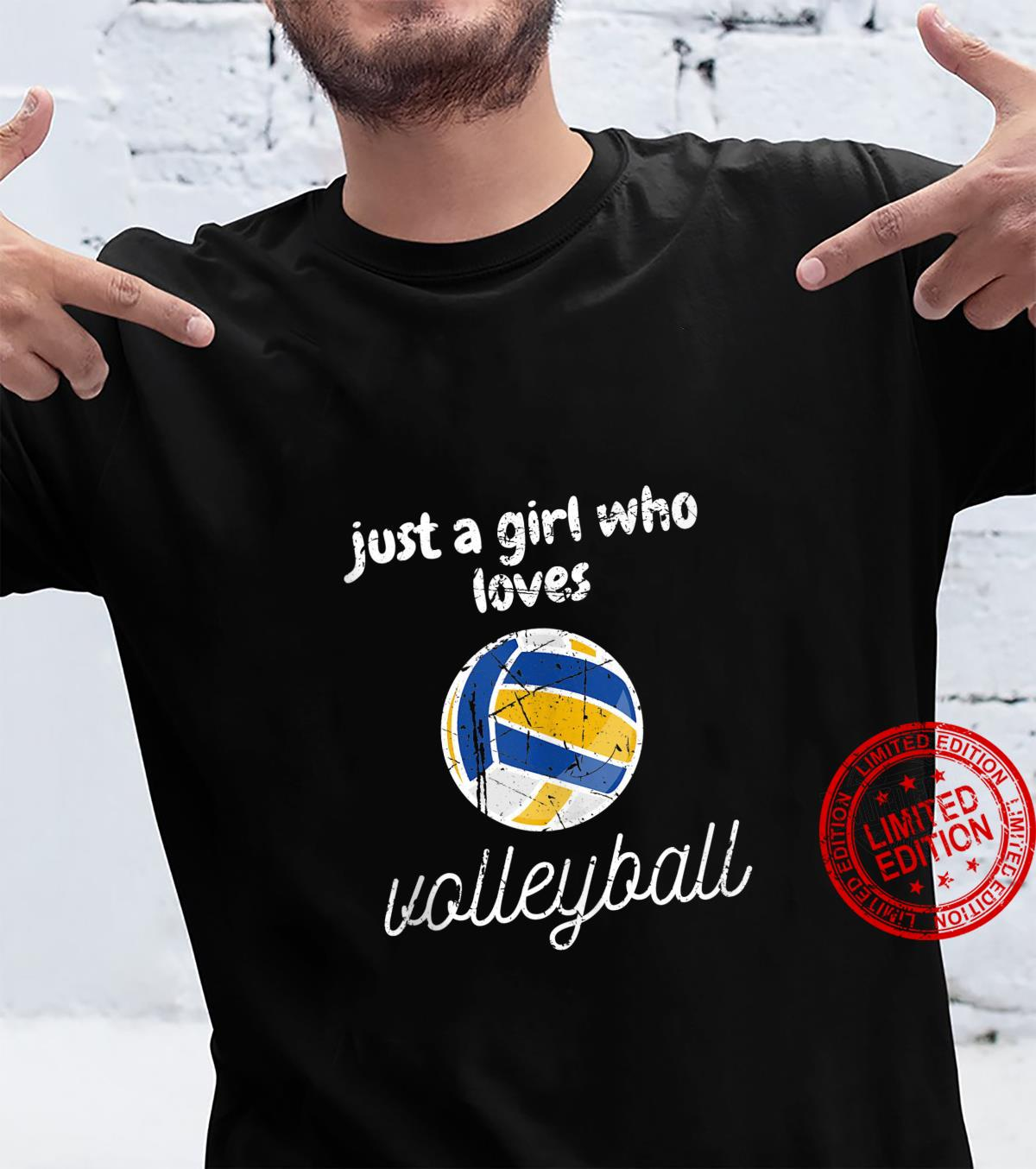 Just A Girl Who Loves Volleyball Sports Gameday Shirt