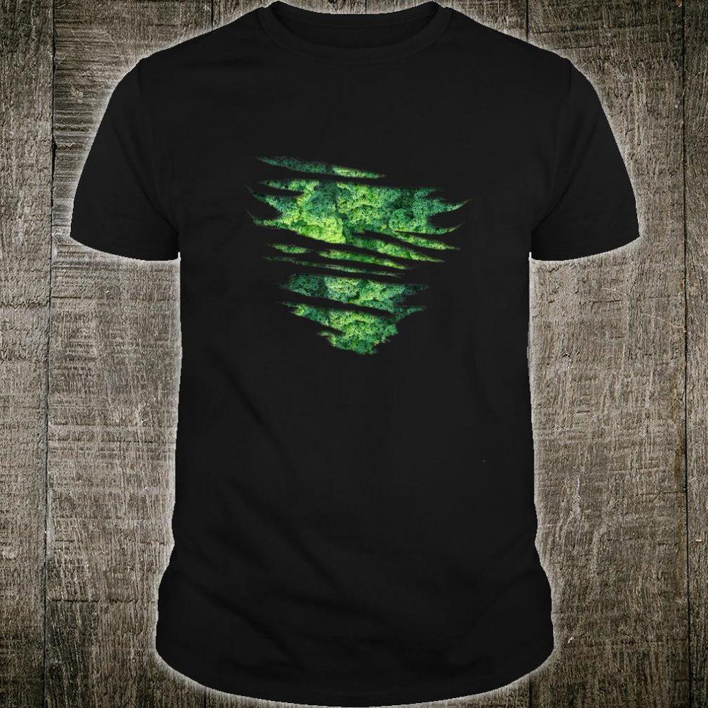 Kale Inside Vegan Vegetarian Torn Design Shirt