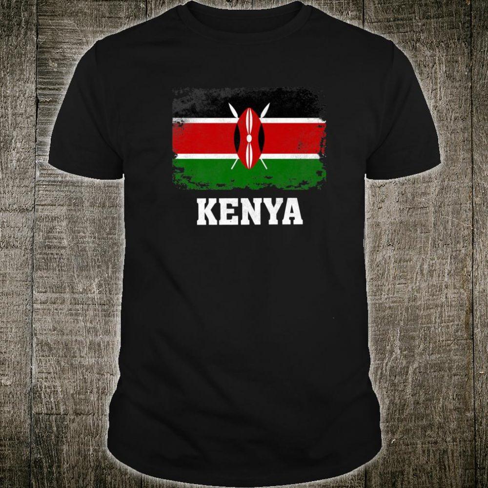 Kenya Flag Gift Kenyan Pride Vintage Souvenir Shirt