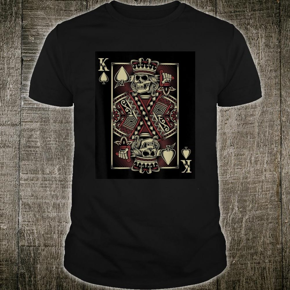 King of Death Grim Reaper Playing Card Shirt