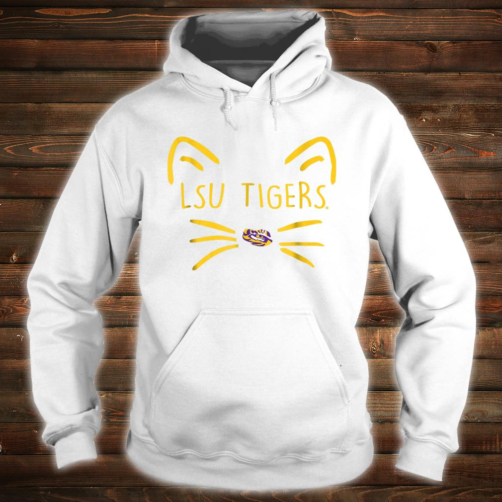 LSU Tigers Cat Face Team Name Shirt hoodie