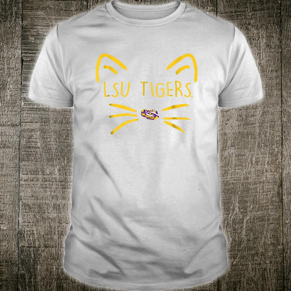 LSU Tigers Cat Face Team Name Shirt