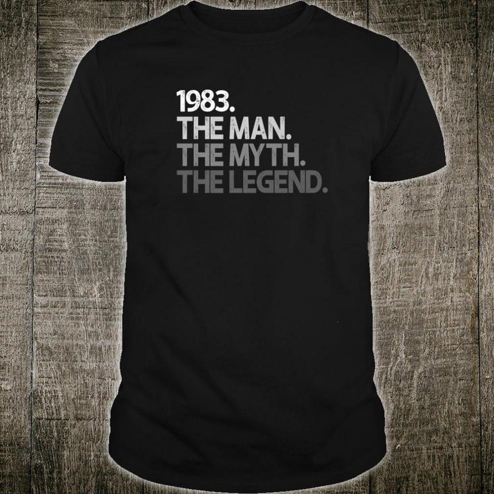 Mens 1983 37th Birthday 37 The Man Myth Legend Thirty Seven Shirt